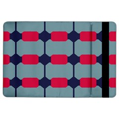 Red Blue Shapes Pattern                                                                                     			apple Ipad Air 2 Flip Case by LalyLauraFLM