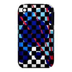 Blue Abstraction Apple Iphone 3g/3gs Hardshell Case (pc+silicone) by Valentinaart