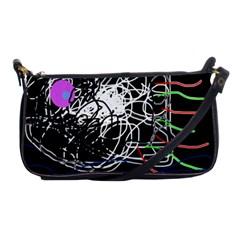 Neon Fish Shoulder Clutch Bags by Valentinaart
