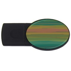 Watercolors                                                                                      			usb Flash Drive Oval (2 Gb) by LalyLauraFLM
