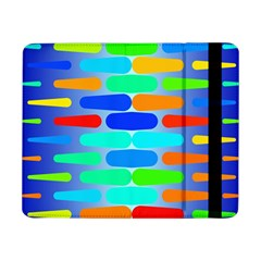 Colorful shapes on a blue background                                                                                      			Samsung Galaxy Tab Pro 8.4  Flip Case by LalyLauraFLM