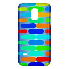 Colorful Shapes On A Blue Background                                                                                      			samsung Galaxy S5 Mini Hardshell Case by LalyLauraFLM