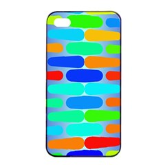 Colorful Shapes On A Blue Background                                                                                      			apple Iphone 4/4s Seamless Case (black) by LalyLauraFLM