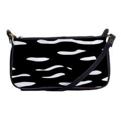 Black And White Shoulder Clutch Bags by Valentinaart
