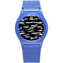 Black And White Round Plastic Sport Watch (s) by Valentinaart