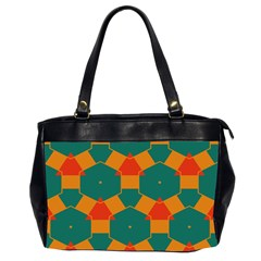 Honeycombs And Triangles Pattern                                                                                       Oversize Office Handbag (2 Sides) by LalyLauraFLM