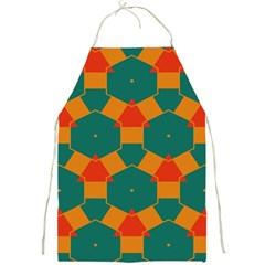 Honeycombs And Triangles Pattern                                                                                       			full Print Apron by LalyLauraFLM