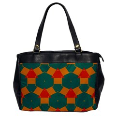 Honeycombs And Triangles Pattern                                                                                       			oversize Office Handbag by LalyLauraFLM