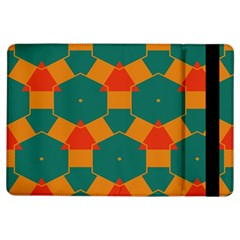 Honeycombs And Triangles Pattern                                                                                      			apple Ipad Air Flip Case by LalyLauraFLM