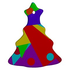 Colorful abstract design Christmas Tree Ornament (2 Sides) by Valentinaart