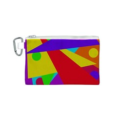 Colorful Abstract Design Canvas Cosmetic Bag (s) by Valentinaart
