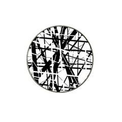 Black And White Abstract Design Hat Clip Ball Marker (4 Pack) by Valentinaart