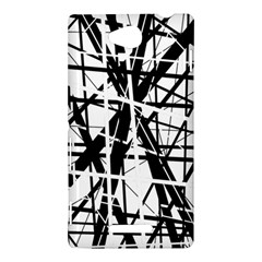 Black and white abstract design Sony Xperia C (S39H) by Valentinaart