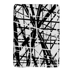 Black And White Abstract Design Ipad Air 2 Hardshell Cases by Valentinaart