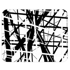 Black And White Abstract Design Double Sided Flano Blanket (medium)  by Valentinaart