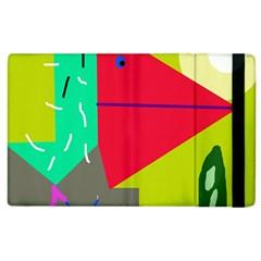 Abstract Bird Apple Ipad 2 Flip Case by Valentinaart