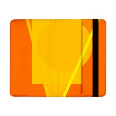 Orange abstract design Samsung Galaxy Tab Pro 8.4  Flip Case by Valentinaart