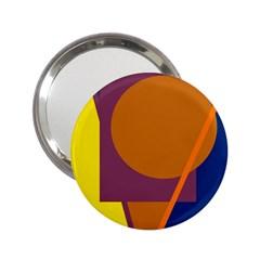 Geometric Abstract Desing 2 25  Handbag Mirrors by Valentinaart