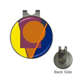 Geometric Abstract Desing Hat Clips With Golf Markers by Valentinaart