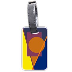 Geometric abstract desing Luggage Tags (Two Sides) by Valentinaart