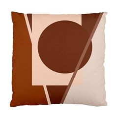 Brown Geometric Design Standard Cushion Case (two Sides) by Valentinaart