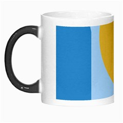 Blue And Yellow Abstract Design Morph Mugs by Valentinaart