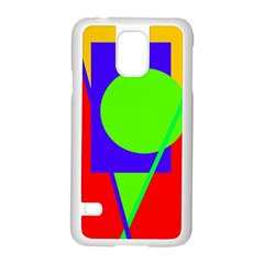 Colorful Geometric Design Samsung Galaxy S5 Case (white) by Valentinaart