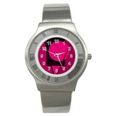 Decorative Geometric Design Stainless Steel Watch by Valentinaart