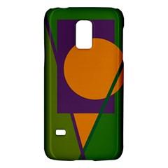 Green and orange geometric design Galaxy S5 Mini by Valentinaart