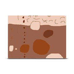 Brown abstract design Plate Mats by Valentinaart