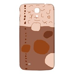 Brown abstract design Samsung Galaxy Mega I9200 Hardshell Back Case by Valentinaart
