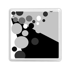 Gray Decorative Dots Memory Card Reader (square)  by Valentinaart
