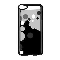 Gray Decorative Dots Apple Ipod Touch 5 Case (black) by Valentinaart