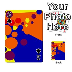 Blue And Orange Dots Playing Cards 54 Designs  by Valentinaart