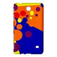 Blue And Orange Dots Samsung Galaxy Tab 4 (7 ) Hardshell Case  by Valentinaart