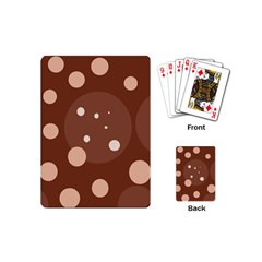 Brown Abstract Design Playing Cards (mini)  by Valentinaart