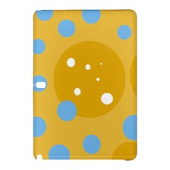Blue And Yellow Moon Samsung Galaxy Tab Pro 12 2 Hardshell Case by Valentinaart