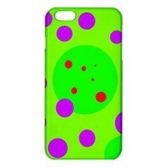 Green And Purple Dots Iphone 6 Plus/6s Plus Tpu Case by Valentinaart