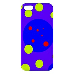 Purple And Yellow Dots Iphone 5s/ Se Premium Hardshell Case by Valentinaart