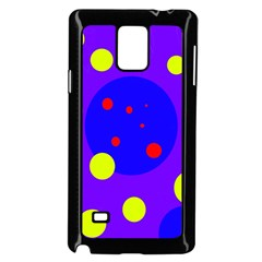 Purple And Yellow Dots Samsung Galaxy Note 4 Case (black) by Valentinaart