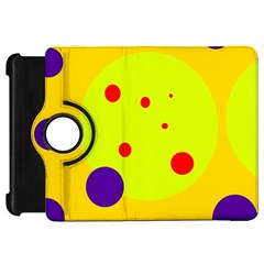 Yellow and purple dots Kindle Fire HD Flip 360 Case