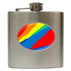 Colorful Abstract Design Hip Flask (6 Oz) by Valentinaart