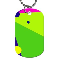 Colorful Abstract Design Dog Tag (two Sides) by Valentinaart