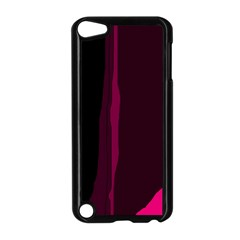 Pink And Black Lines Apple Ipod Touch 5 Case (black) by Valentinaart