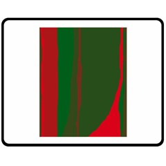 Green and red lines Double Sided Fleece Blanket (Medium)  by Valentinaart