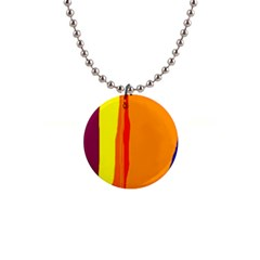Hot Colorful Lines Button Necklaces by Valentinaart