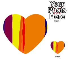 Hot Colorful Lines Multi Purpose Cards (heart)