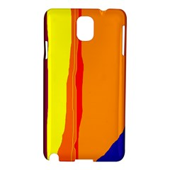 Hot Colorful Lines Samsung Galaxy Note 3 N9005 Hardshell Case by Valentinaart