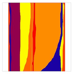 Hot Colorful Lines Large Satin Scarf (square) by Valentinaart