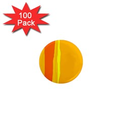 Yellow and orange lines 1  Mini Magnets (100 pack)  by Valentinaart